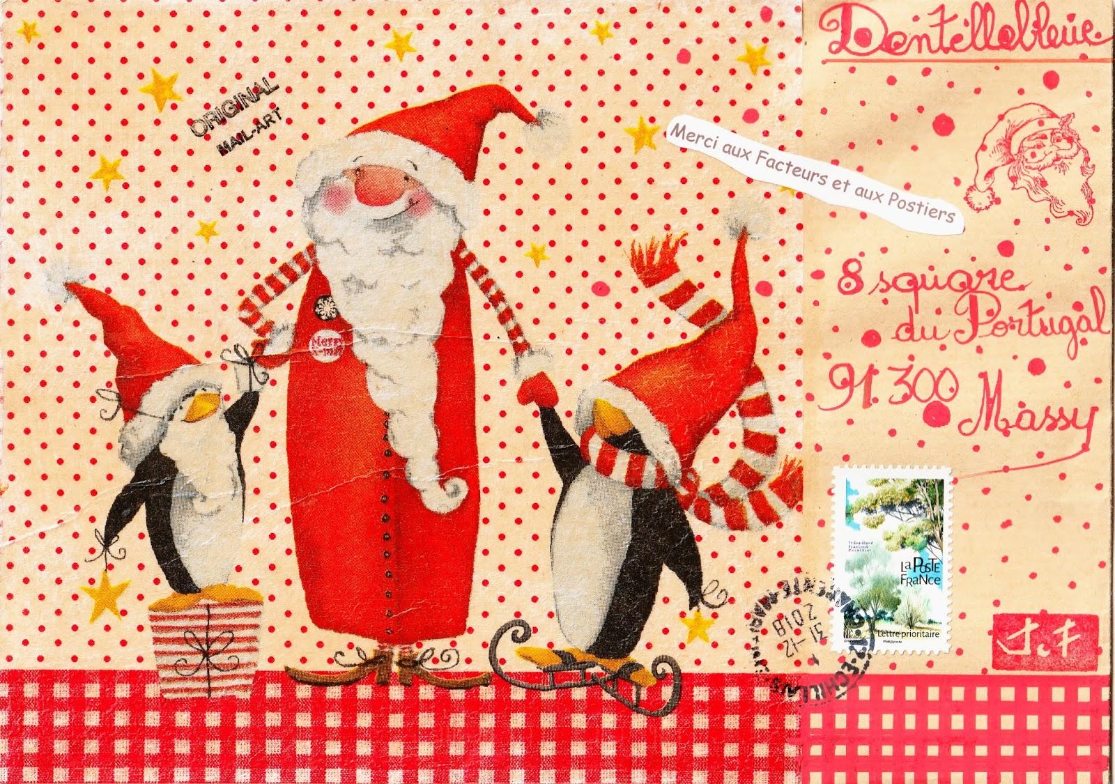 Dentellebleue Séclate Avec Le Mail Art Le Père Noël Et Ses