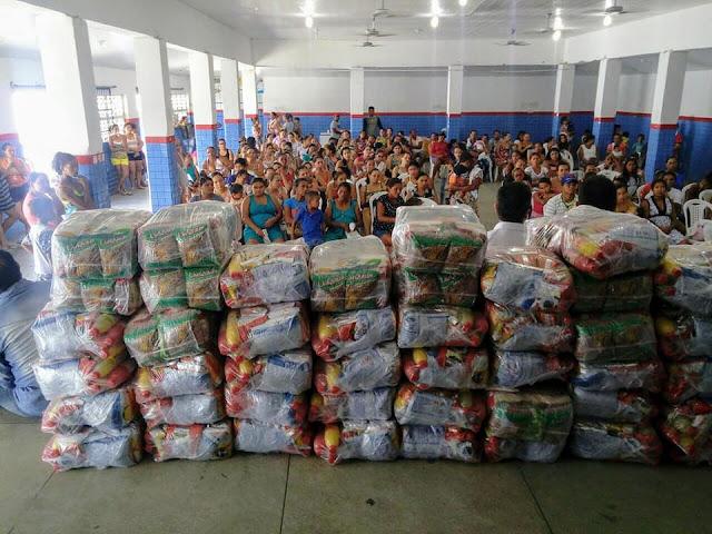 Prefeitura de Olho D'Água do Casado, entrega cestas nutricionais as Gestantes e Nutrizes do município
