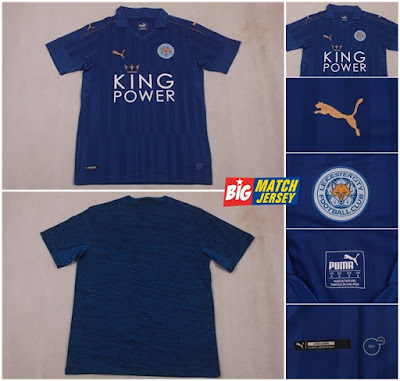Jersey Bola Grade Ori Leicester City Home Soccer Jersey 2016-2017