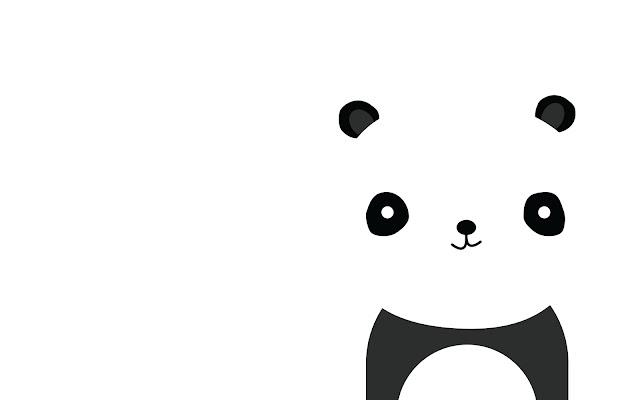 Hình ảnh cách điệu chú gấu trúc dễ thương đáng yêu