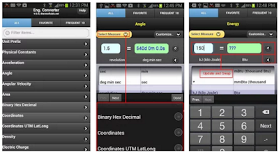 Engineering unit converter android app