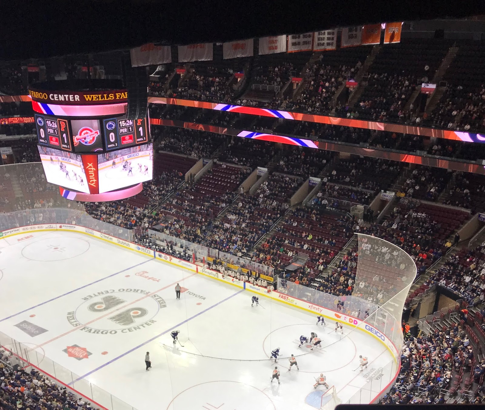 7db1024f3 ... of a venue as he was at Wells Fargo for the men's hockey game between  Princeton and No. 9 Penn State Saturday night. Here's the view from up  there: