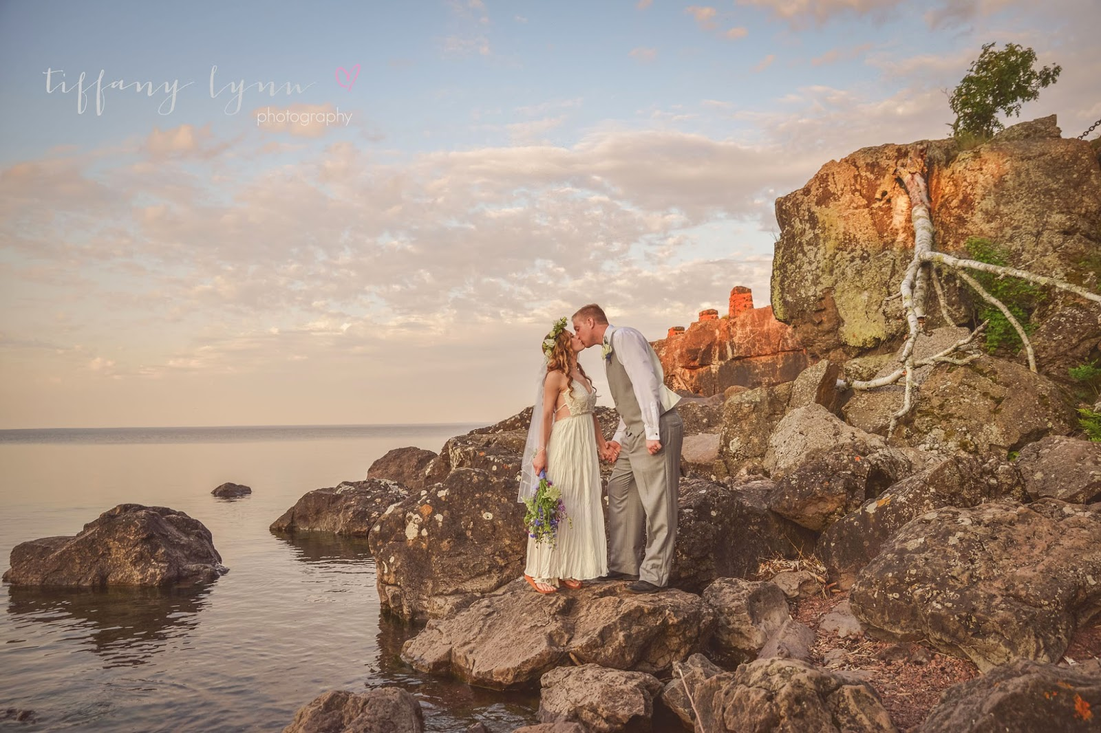 Alex Chelsey Boho Wedding At Gooseberry Falls Park