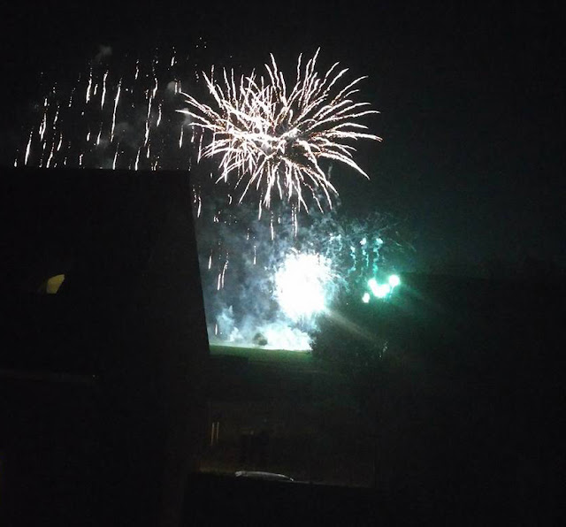 A view of the fireworks