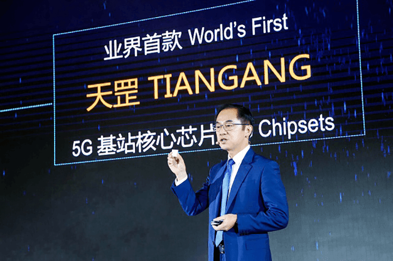 Huawei launches first 5G base station core chip