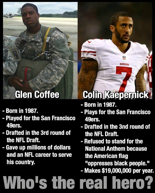 #nfl #nflmeme - #who's the real hero? - Glen Coffee vs Colin Kaepernick