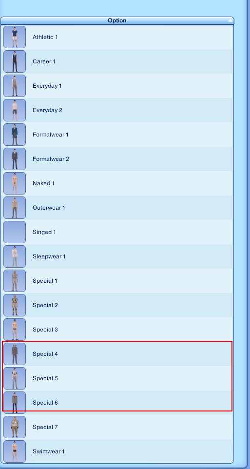 How to delete these special outfits from the list? - nraas