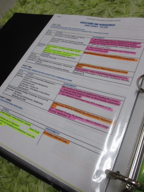 College Class Binder Organization   Looking Through The Lens