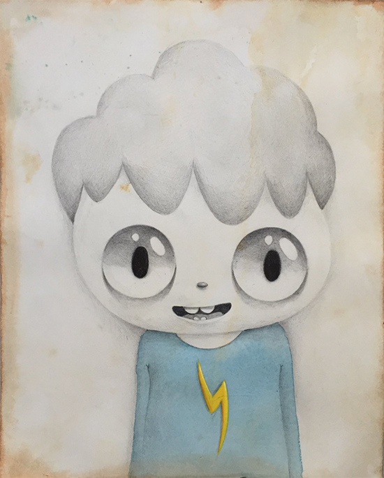 Javier Calleja Thunder Boy, 2017 watercolor, pencil on paper 29 x 22 cm