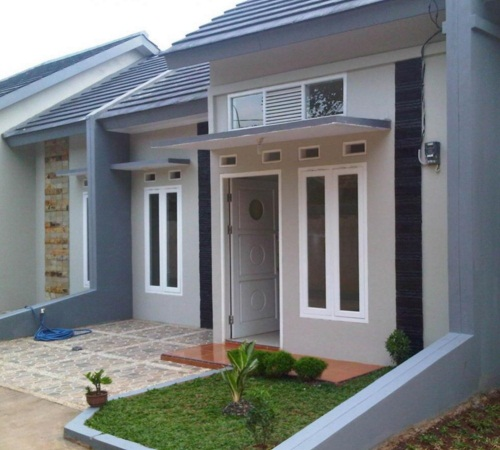 model desain teras rumah minimalis terbaru type 21 model
