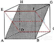 Bidang diagonal yang tegak lurus dengan ABGH