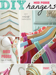 Mod Podge Hangers