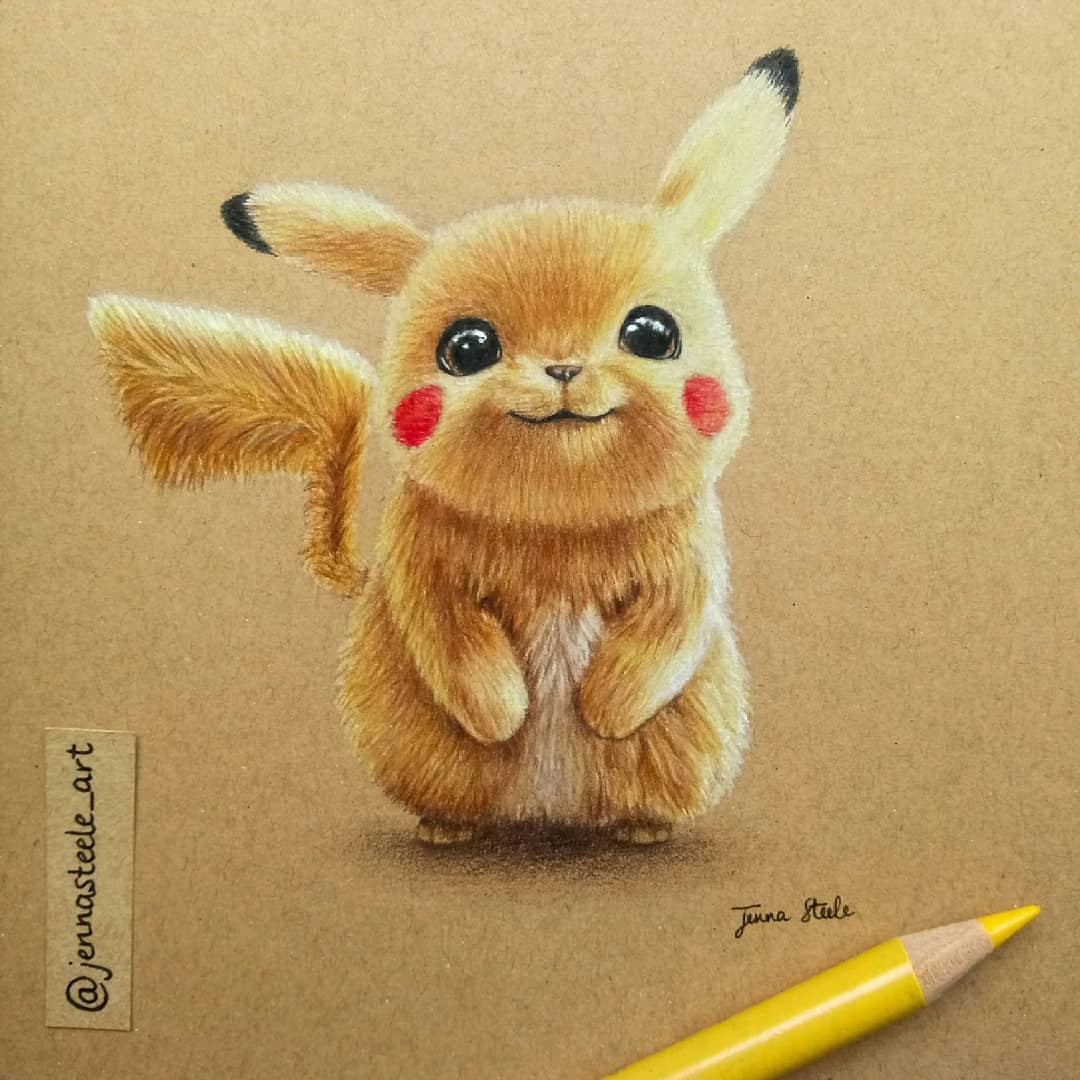 04-Detective-Pikachu-Movie-Jenna-Steele-Collection-of-Pencil-Drawings-www-designstack-co