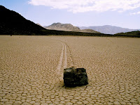 A Sailing Stone in Death Valley