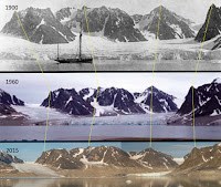 The Waggonwaybreen glacier in Svalbard. (Photo Credit: Andreas Weith) Click to Enlarge.