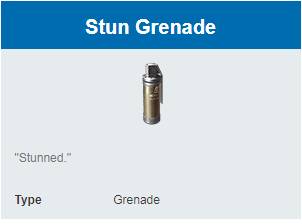 Deskripsi Grenades Stun Grenade di Rules Of Survival