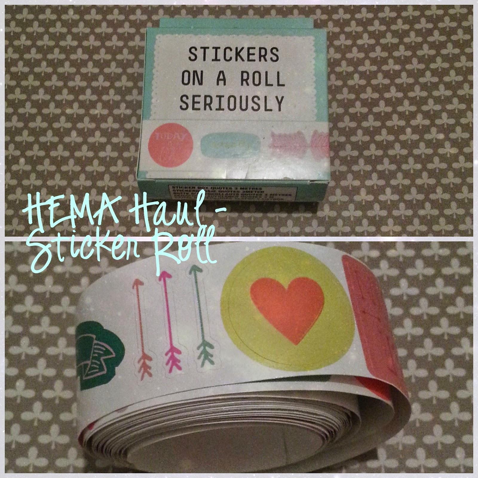 HEMA sticker roll