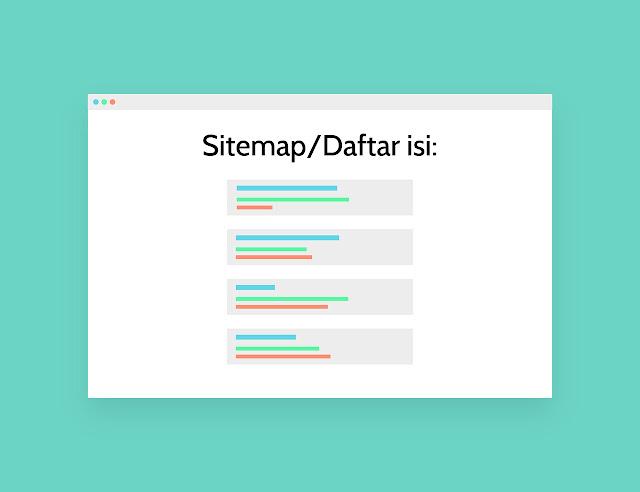 cara membuat sitemap atau daftar isi di blogger