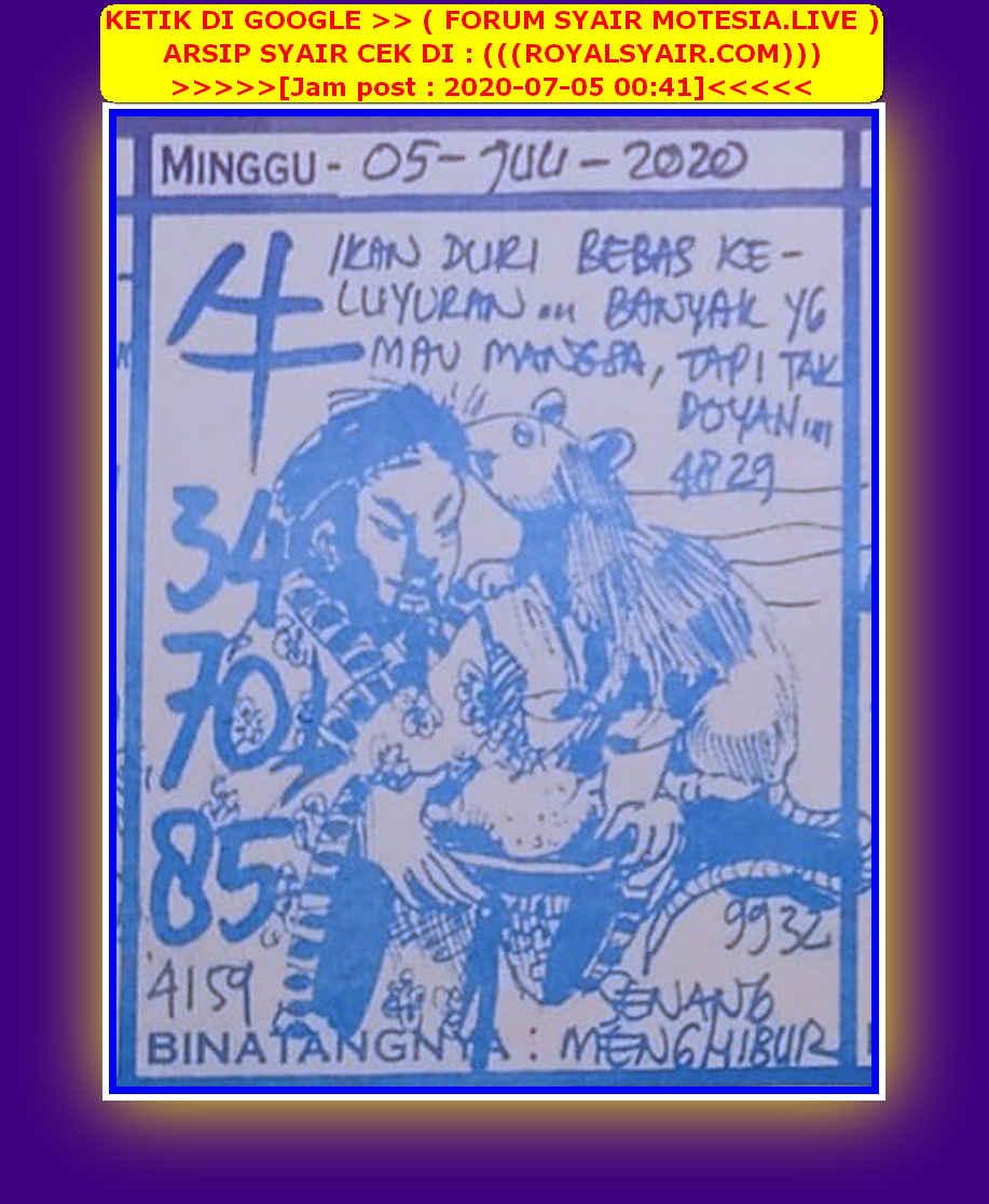 Kode syair Hongkong Minggu 5 Juli 2020 102