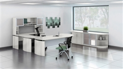 White Office Desk at OfficeAnything.com