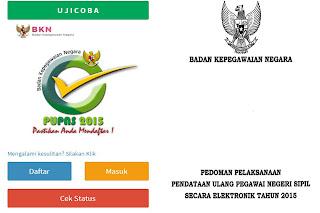 Download Formulir Pendatan Ulang Pegawai Negeri Sipil ( PUPNS ) tahun 2015 Dengan Format Words