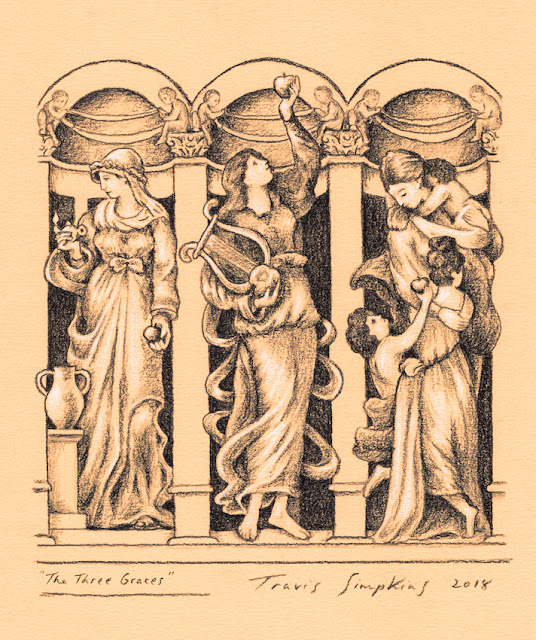 The Three Graces. Faith, Hope and Charity. The Square. Masonic magazine. by Travis Simpkins