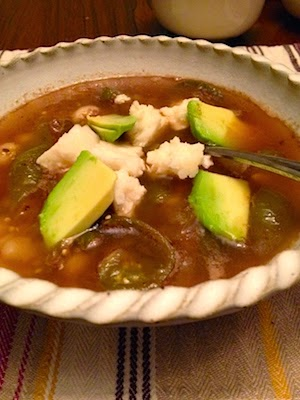 Roasted Tomatillo Pozole by Future Relics Gallery