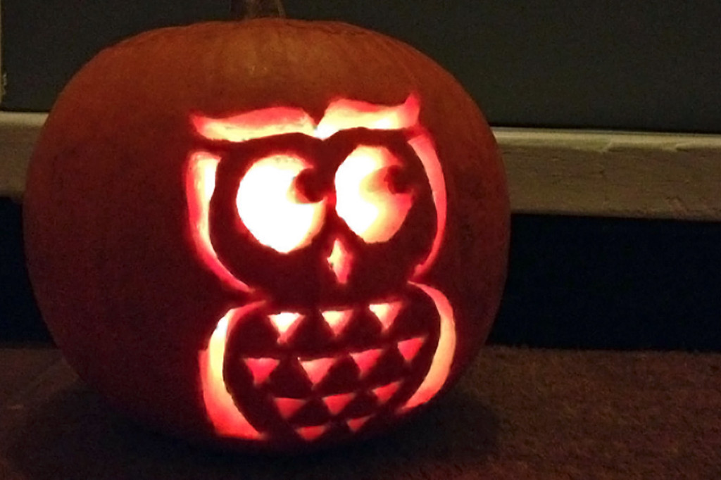 Easy and cute owl pumpkin carving templates ideas 2017 for Simple pumpkin stencils