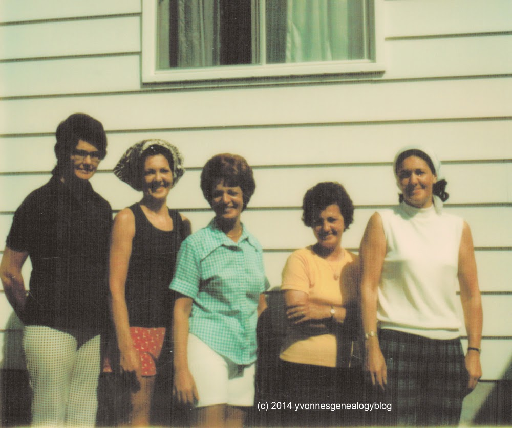 Jacqueline Desgroseilliers with four of her sisters