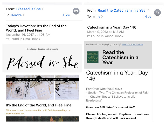 Catholic all year 2017 my two favorite daily catholic emails come from blessed is she and read the catechism in a year blessed is she sends a link to the daily mass readings fandeluxe Gallery