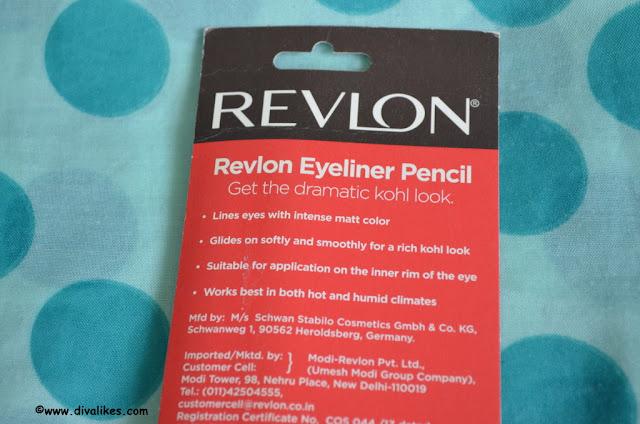 Revlon Kohl Kajal Eyeliner Pencil 011 Black