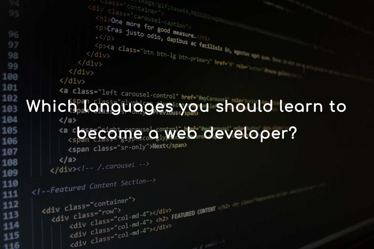 Languages you should learn to become a web developer