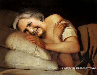 fotomontaggi di politici in dipinti classici-Hillary Clinton e la sconfitta