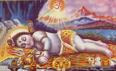 Image of Lord Shiva as Baby