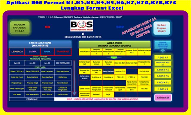 Aplikasi BOS Format K1,K2,K3,K4,K5,K6,K7,K7A,K7B,K7C Versi 2017