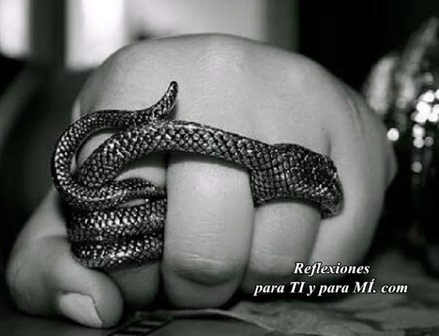 El hombre respondió: - la naturaleza de la serpiente es morder, y eso no va a cambiar la mía, que es AYUDAR .