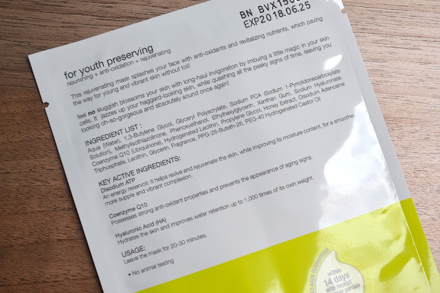 b.liv Feel No Sluggish Japan Silk Sheet Mask