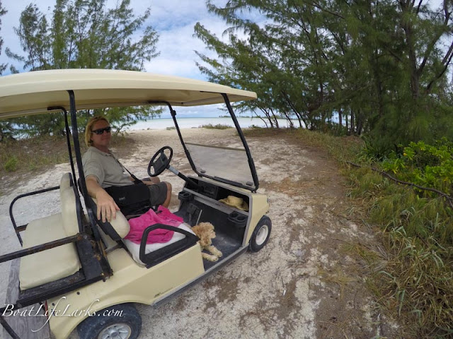 Golf Cart on the beach, Great Harbour Cay
