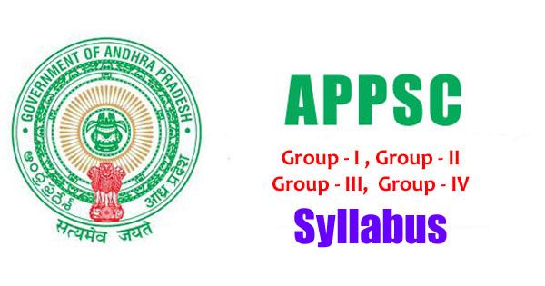 APPSC Group Examination Syllabus
