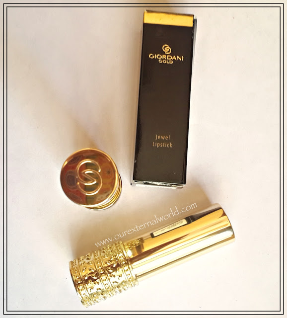 Oriflame Giordani Gold Jewel Lipsticks - Honey Chestnut, Cherise Pink - Review, Swatches