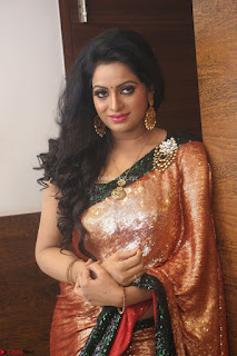 Udaya Bhanu lookssizzling in a Saree Choli at Gautam Nanda music launchi ~ Exclusive Celebrities Galleries 092.JPG