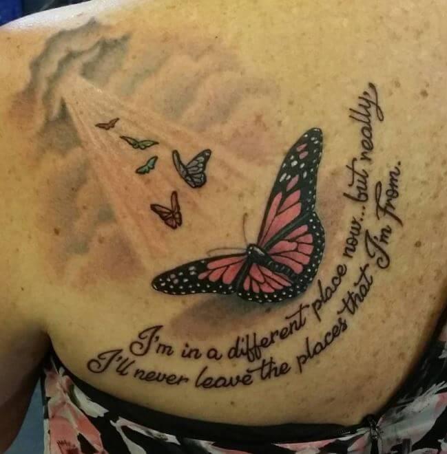 Butterfly Tattoo Rip Best Tattoo Ideas