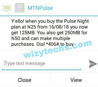 New MTN Pulse Night Plan Now N25 for 125MB, N50 for 250MB
