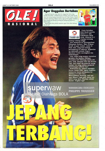 HIDEAKI KITAJAM OF JAPAN ON ASIAN CUP 2000
