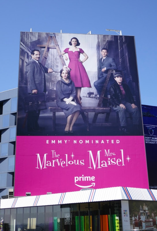 Mrs Maisel Emmy nominated billboard