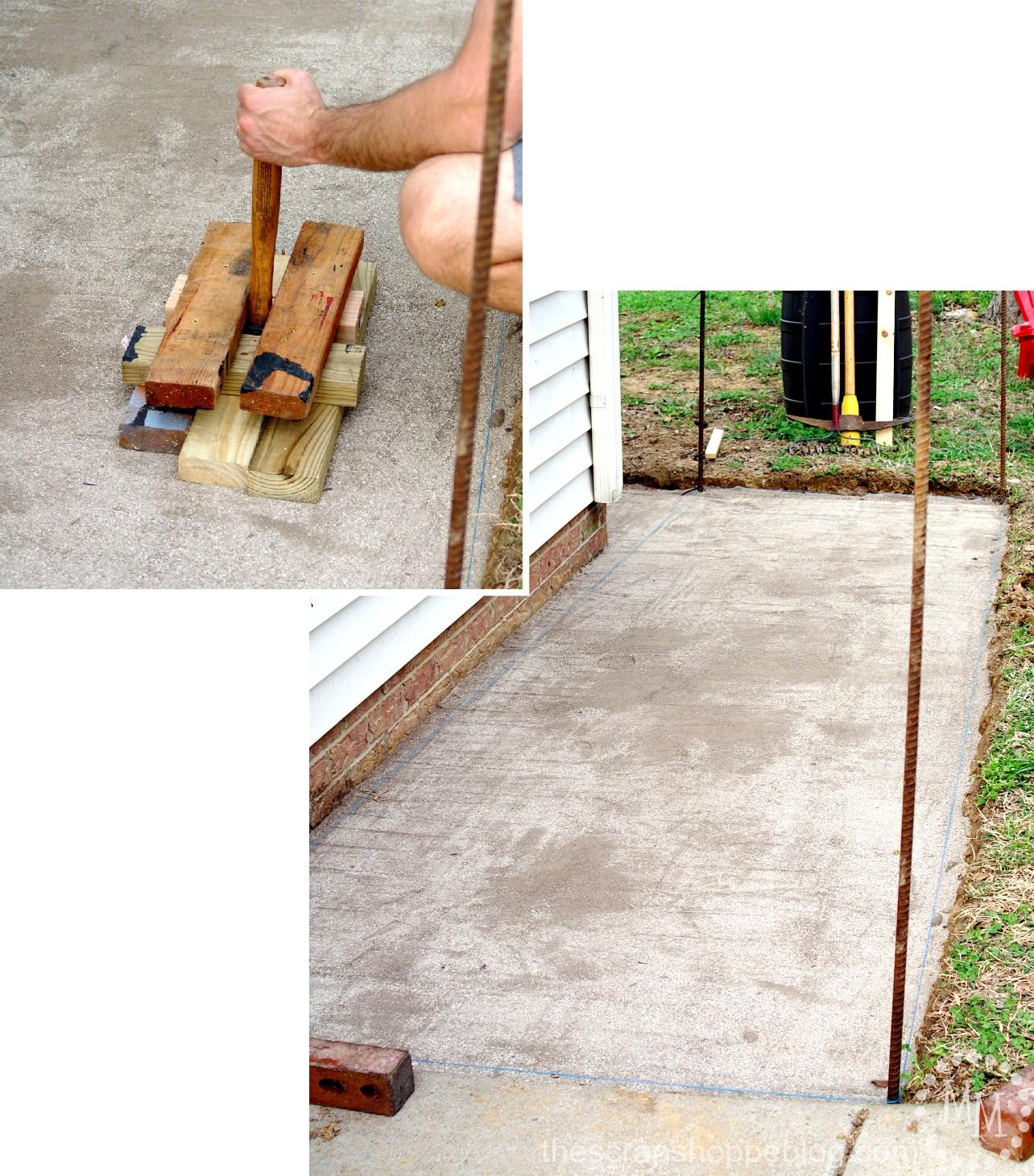 how to build a brick patio - adding paver base