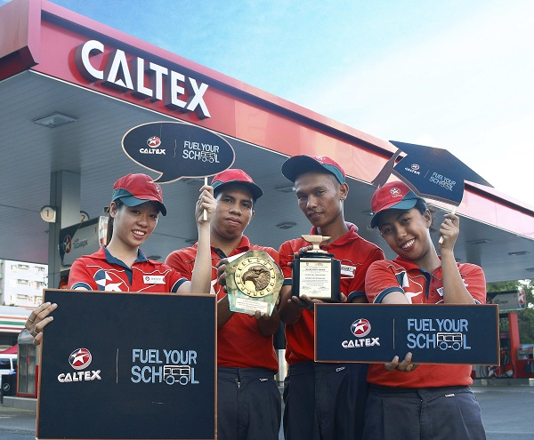 Caltex Fuel Your School bags Silver Anvil Award