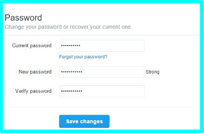 How to Change Password on Twitter