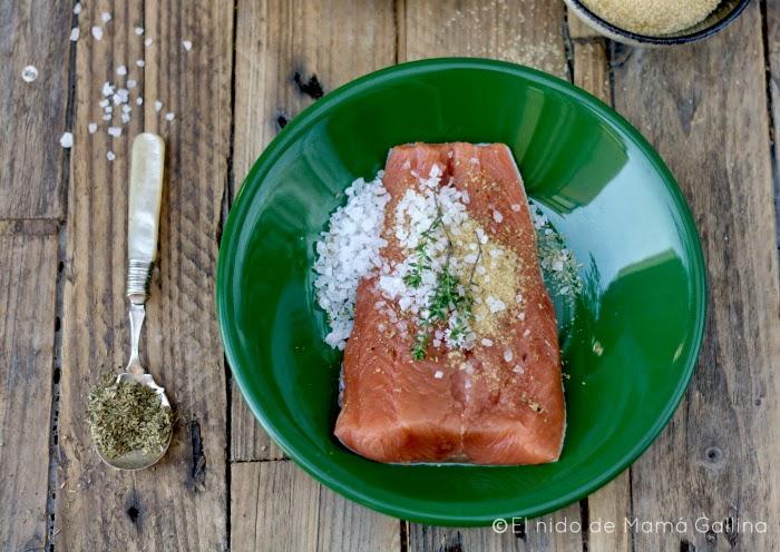 salmón en salazón