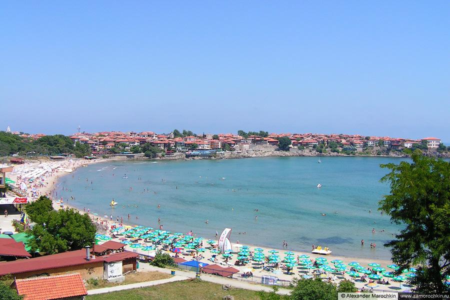 Пляж в Старом Созополе   Beach in the Old Town of Sozopol